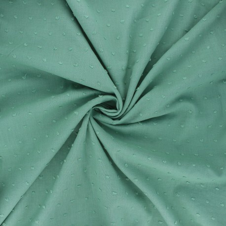 Plumetis cotton voile fabric - eucalyptus Aéria x 10cm