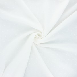 Plumetis cotton voile fabric - raw Aéria x 10cm