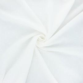 Tissu voile de coton plumetis Aéria - écru x 10cm