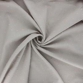 Tissu voile de coton plumetis Aéria - grège x 10cm