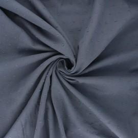 Tissu voile de coton plumetis Aéria - gris foncé x 10cm