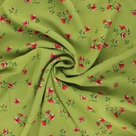 Tissu viscose fleuri Ornate - vert x 10cm