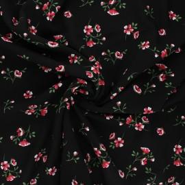 Tissu viscose fleuri Ornate - noir x 10cm