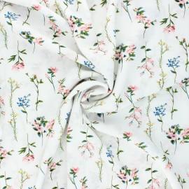 Tissu viscose fleuri Caeli - écru x 10cm