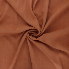 Plain elastane viscose fabric - cinnamon x 10cm