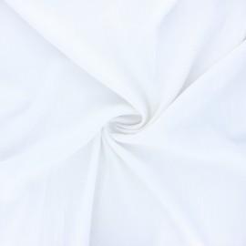 Plain elastane viscose fabric - white x 10cm