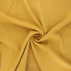Plain elastane viscose fabric - mustard yellow x 10cm