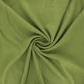 Plain elastane viscose fabric - moss green x 10cm