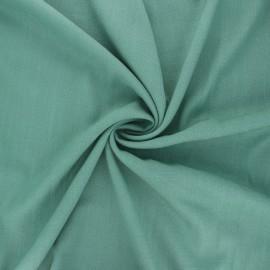 Plain elastane viscose fabric - sage green x 10cm