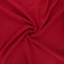 Plain elastane viscose fabric - passion red x 10cm
