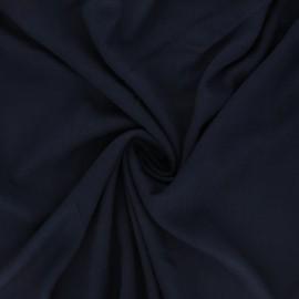 Plain elastane viscose fabric - midnight blue x 10cm