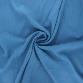 Plain elastane viscose fabric - swell blue x 10cm