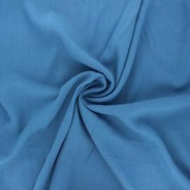Tissu viscose élasthanne uni - bleu houle x 10cm