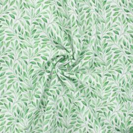 Tissu double gaze de coton Botanicalia - blanc cassé x 10cm