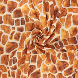 Double cotton gauze fabric - raw  Giraffe spots x 10cm