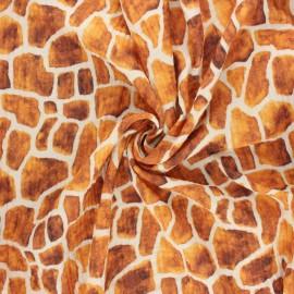 Tissu double gaze de coton Giraffe spots - écru x 10cm