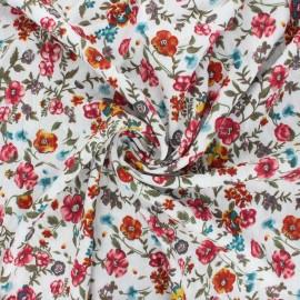 Lurex viscose crepe fabric - off-white Aline x 10cm