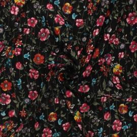 Lurex viscose crepe fabric - black Aline x 10cm