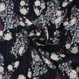 Lurex viscose crepe fabric - night blue Orlane x 10cm