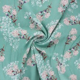 Lurex viscose crepe fabric - eucalyptus Orlane x 10cm