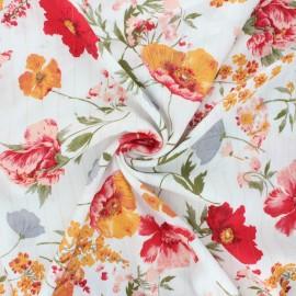 Lurex viscose crepe fabric - off-white Amapola x 10cm