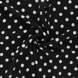 Elastane crepe fabric - black Romy x 10cm