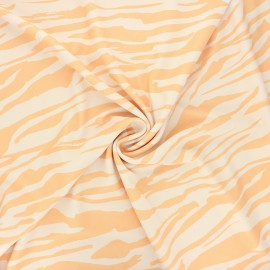 Polyester fabric - yellow Punchy zebra x 10cm