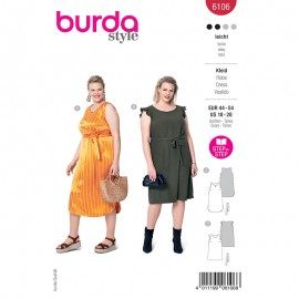 Plus size dress sewing pattern - Burda Style n°6106