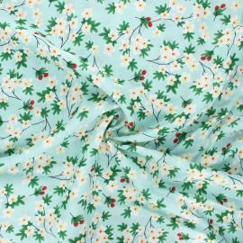 Tissu rayonne Cherry tree - vert x 10cm