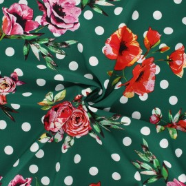 Polyester crepe fabric - green Estepona x 10cm