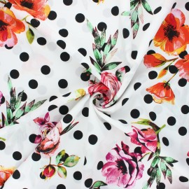 Tissu crêpe polyester Estepona - écru x 10cm
