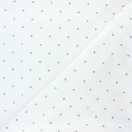 Poppy Terry-cloth jersey fabric - off-white Star x 10cm