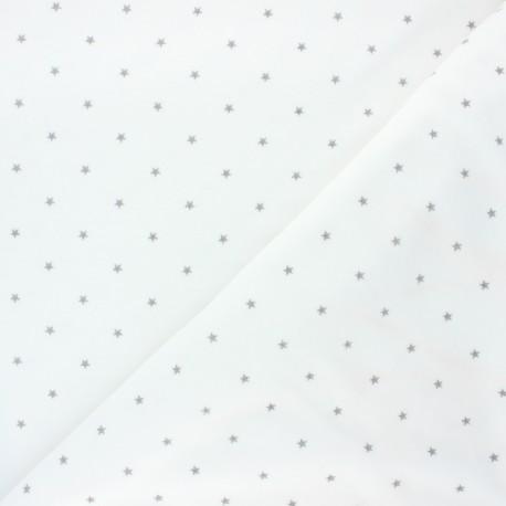 Tissu jersey velours éponge Poppy Star - blanc cassé x 10cm