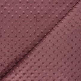 Dotted minkee velvet fabric - bishop purple x 10cm