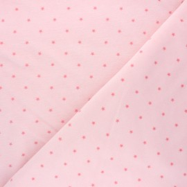 Poppy Terry-cloth jersey fabric - baby pink Star x 10cm