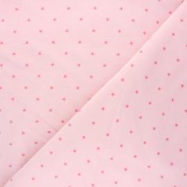 Tissu jersey velours éponge Poppy Star - baby rose x 10cm