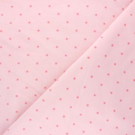 Poppy Terry-cloth jersey fabric - baby pink Star x 10cm