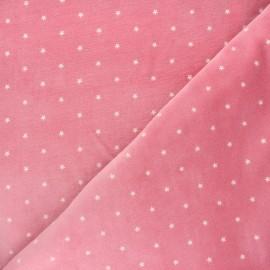 Tissu jersey velours éponge Poppy Star - rose x 10cm