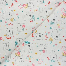Poppy terry-cloth jersey fabric - light grey Sweet koala x 10cm