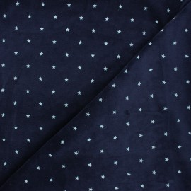 Poppy Terry-cloth jersey fabric - midnight blue Star x 10cm