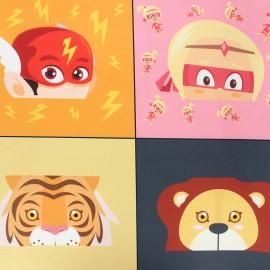 Tritex mask fabric - Super animals