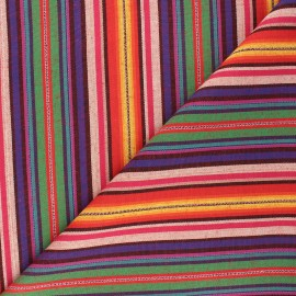 Bayadere fabric - multicolor Pérou x 10cm
