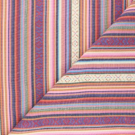 Bayadere fabric - pink Bolivie x 10cm