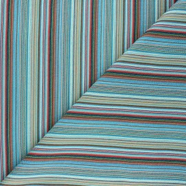 Bayadere fabric - blue Argentine x 10cm