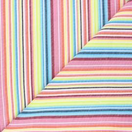 Tissu bayadère Colombie - multicolore x 10cm