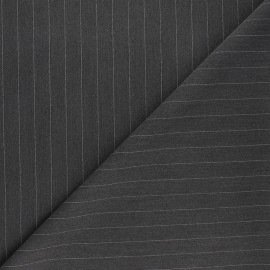 Elastane twill tailor fabric - anthracite Wall Street x 10cm