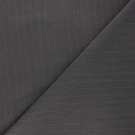 Tissu tailleur élasthanne rayé Wall Street - gris x 10cm