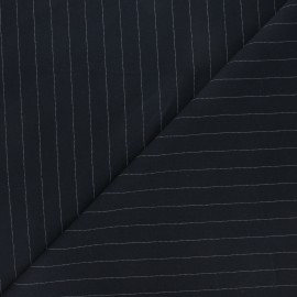 Elastane twill tailor fabric - midnight blue Wall Street x 10cm