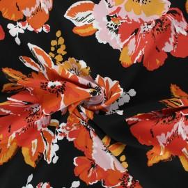 Rayon fabric - black Artémis x 10cm