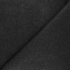 Fleece fabric - mottled dark grey Warm x 10cm